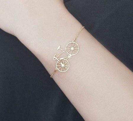 عکس دستبند دخترانه طرح دوچرخه