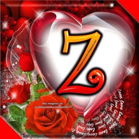 عکس حرف انگلیسی z با گل و قلب