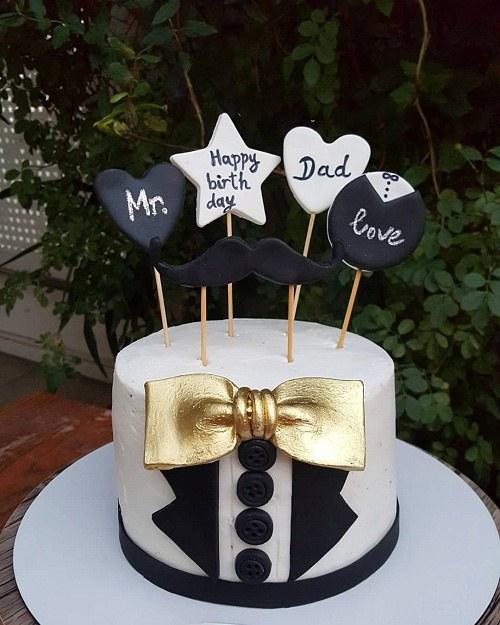 عکس کیک تولد مردانه لاکچری