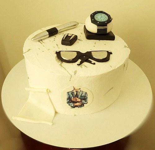 کیک تولد مردانه برای برادر