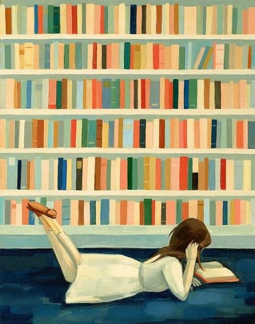 نقاشی خوشگل راجب کتاب و کتابخوانی