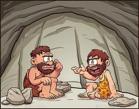 عکس کارتونی انسان های نخستین