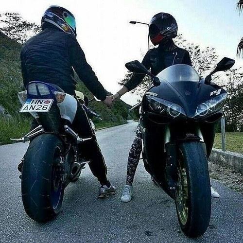 عکس پروفایل موتور سواری با عشقم