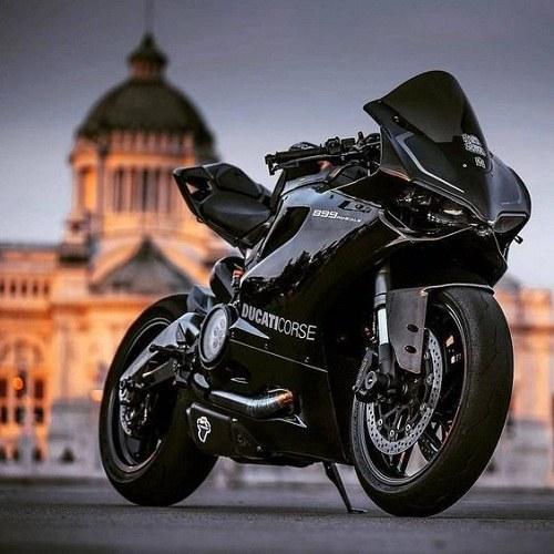 عکس پروفایل موتور سیکلت مشکی