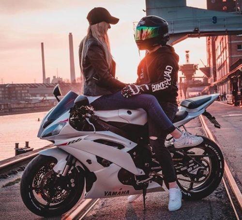 عکس پروفایل موتور سواری زن و مرد