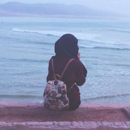 عکس پروفایل واتساپ دخترونه منظره دریا