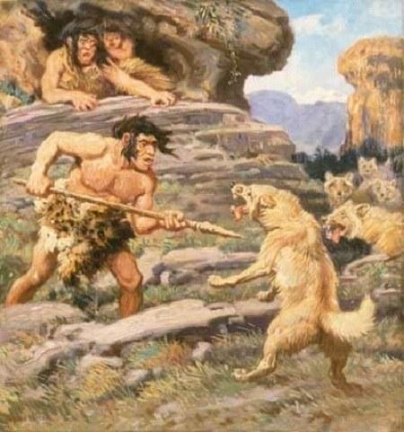 عکس حیوانات و انسان های نخستین