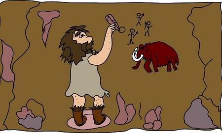 عکس های کارتونی انسان اولیه