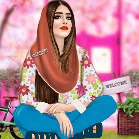عکس دخترانه برای پروفایل واتساپ