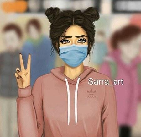 عکس پروفایل دخترونه برای واتساپ با ماسک