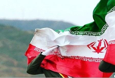 عکس احترام نظامی به پرچم ایران