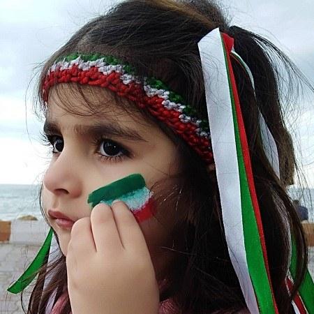 عکس پرچم ایران بالاست
