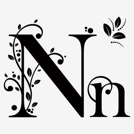 عکس حرف انگلیسی N
