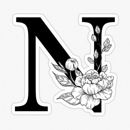 تصاویر حروف انگلیسی n
