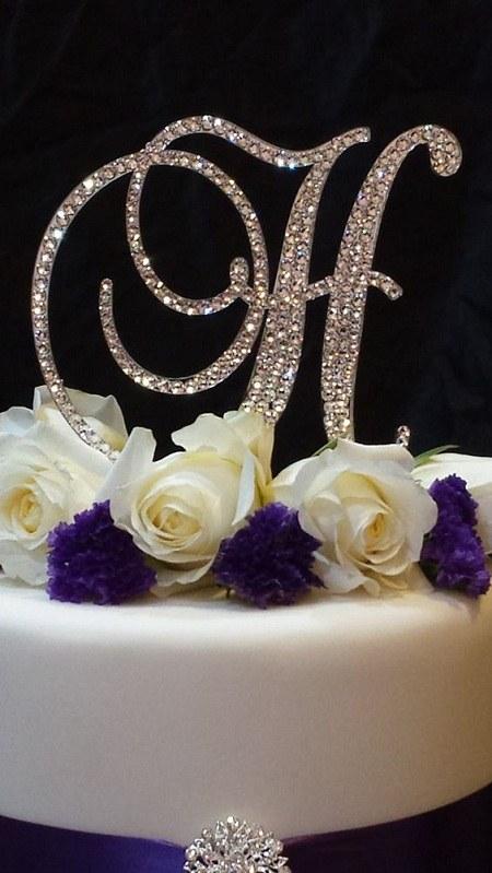 عکس کیک تولد حرف H