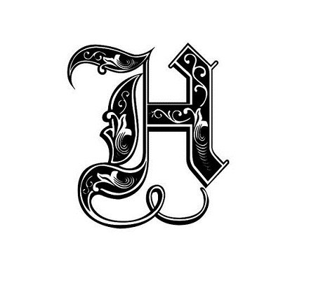 عکس لوگوی حرفه ای حرف h