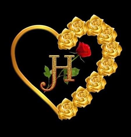 عکس قلبی و خوشگل حرف انگلیسی H