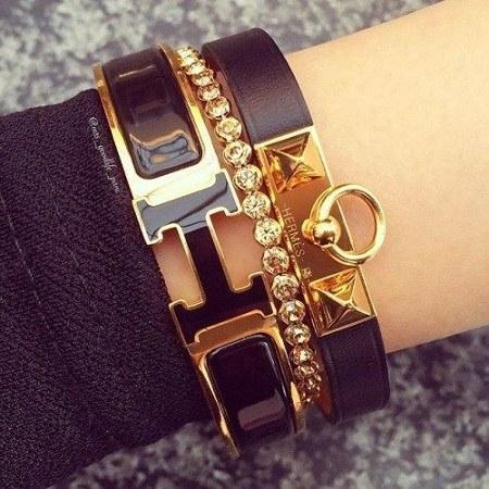 عکس دستبند دخترونه حرف h