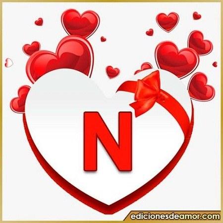 عکس قلبی و عاشقانه حرف انگلیسی n