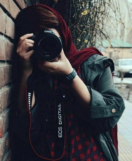 پروفایل دخترانه دوربین بدست