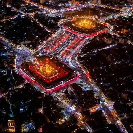 عکس هوایی و زیبا از بین الحرمین