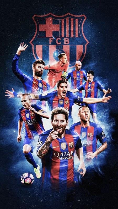 عکس تیم باشگاه بارسلونا + لوگوی باشگاه بارسلونا