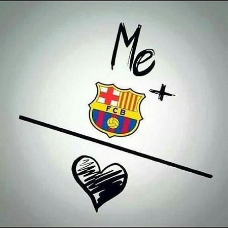 عکس عاشقانه ی لوگوی بارسلونا