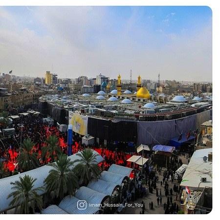 عکس حرم امام حسین برای پروفایل