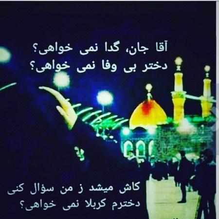 عکس نوشته دخترونه حرم امام حسین