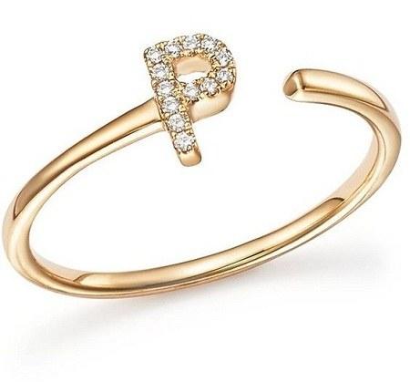 عکس دستبند طلای حرف p