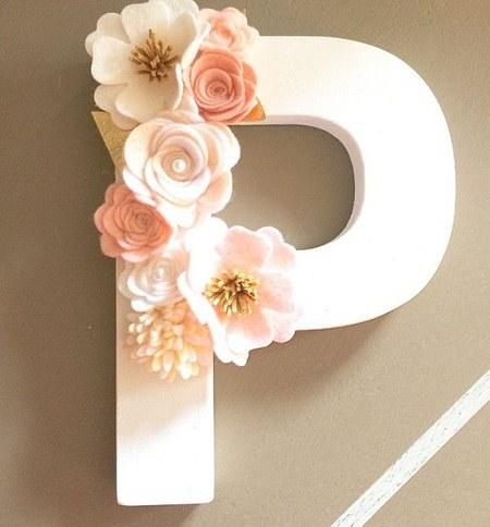 عکس حرف p با گل