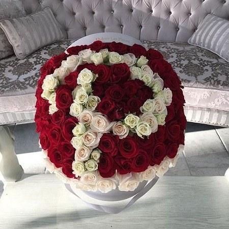 جدیدترین عکس های حرف p  با گل رز قرمز