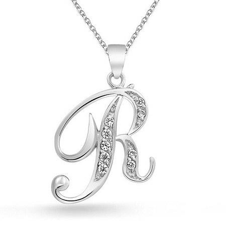 عکس زنجیر نقره حرف R