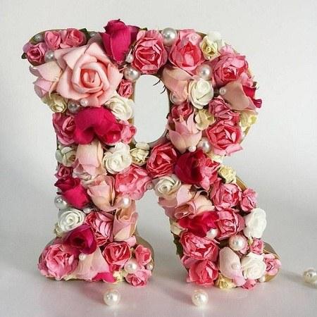 عکس حرف R به شکل گل زیبا