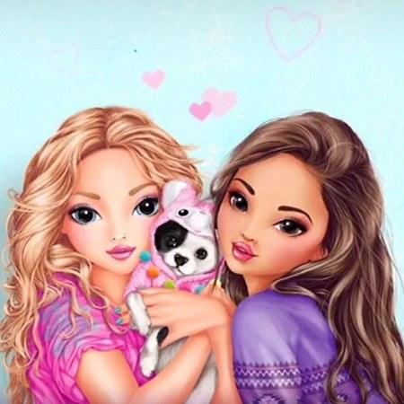 پروفایل خوشگل دو دوست دختر