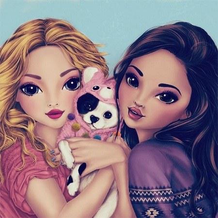 عکس دو دوست صمیمی دختر 1400 جدید