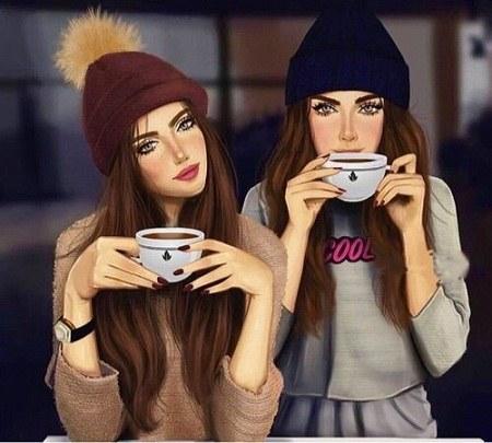 عکس دو دوست صمیمی برای پروفایل دخترانه