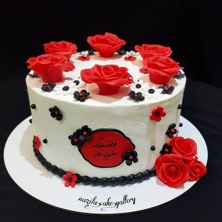 کیک تولد مادر عکس