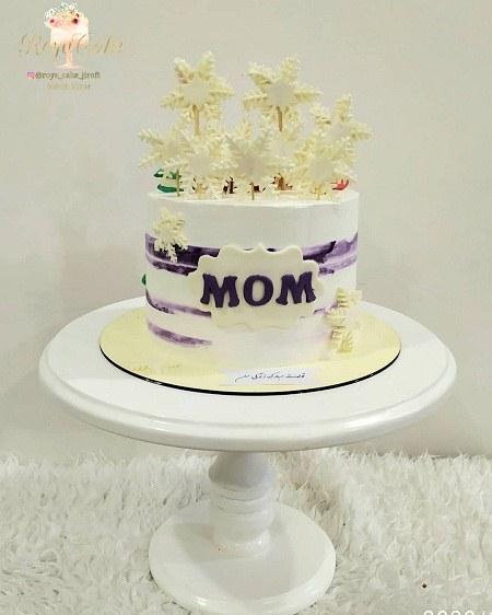 عکسهای کیک تولد مادر با تزیینات زیبا
