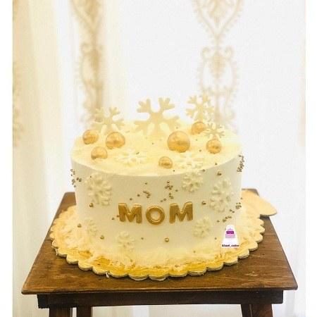 کیک تولد زمستونی برای مادر