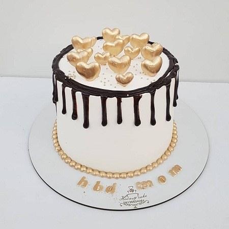 عکس کیک تولد مادر قلبی