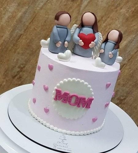 عکس کیک تولد مادر با نوشته ی انگلیسی