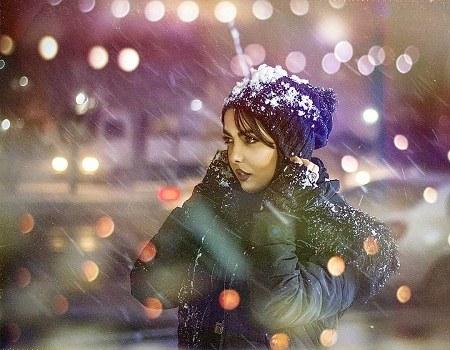 عکس دخترانه شب های برفی