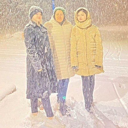 شب برفی عکس