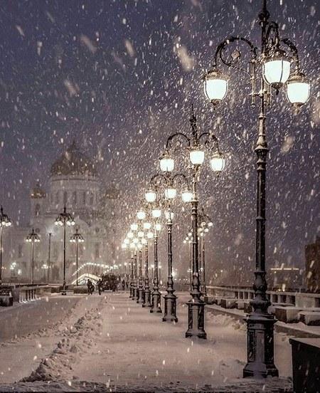 مجموعه عکس شب برفی