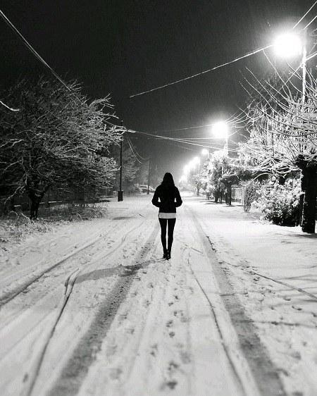 عکس و دلنوشته شب برفی