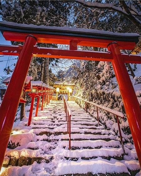 تصاویر شب برفی