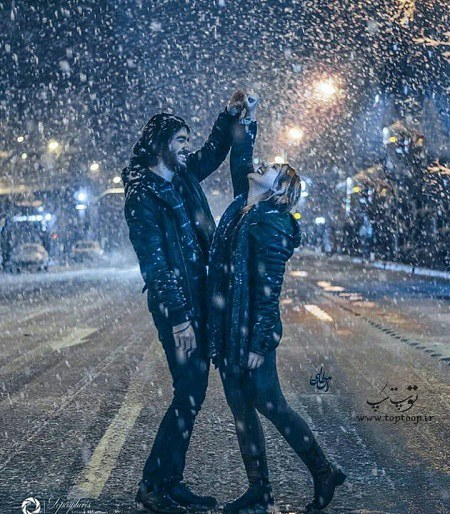 جملات زیبا و عاشقانه برای روز برفی با عکس