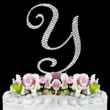 عکس کیک تولد با حرف y