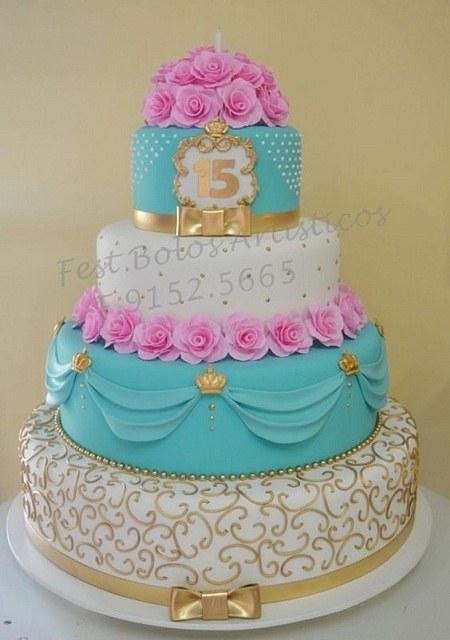 کیک تولد 15 سالگی خوشگل